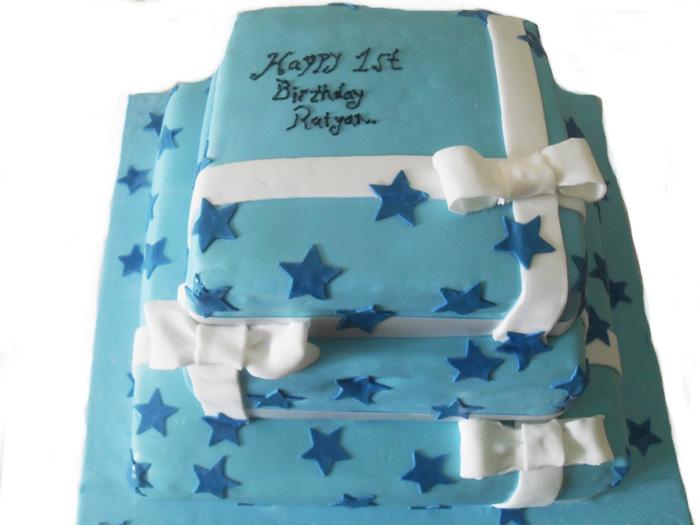 1st Birthday Blue Cake