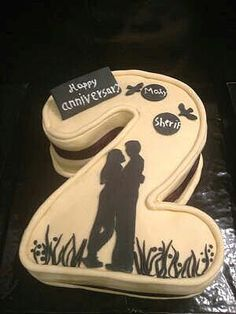 2nd Wedding Anniversary Cake