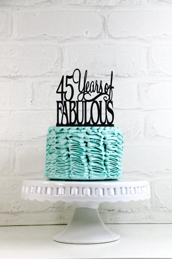 45th Birthday Cake Topper
