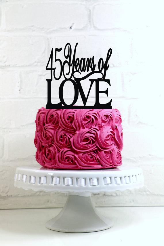 60 Years Anniversary Cake Topper