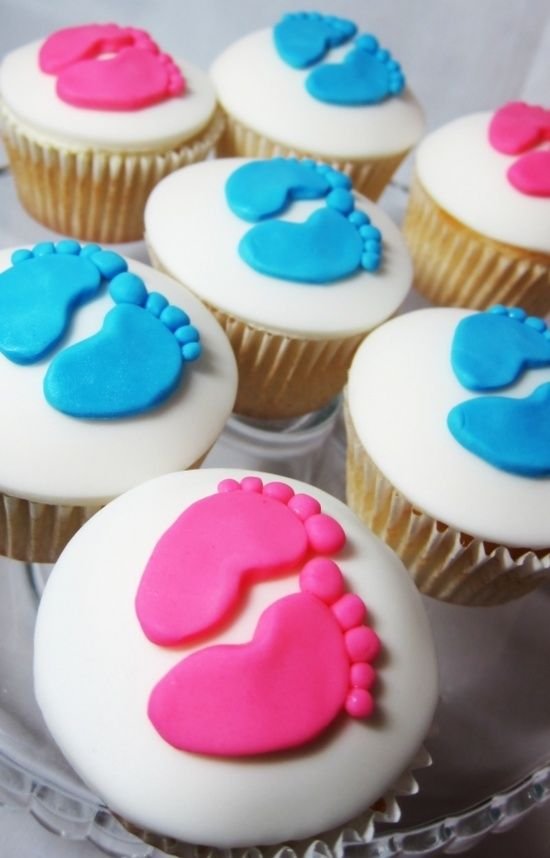 Baby Gender Reveal Party Cupcakes