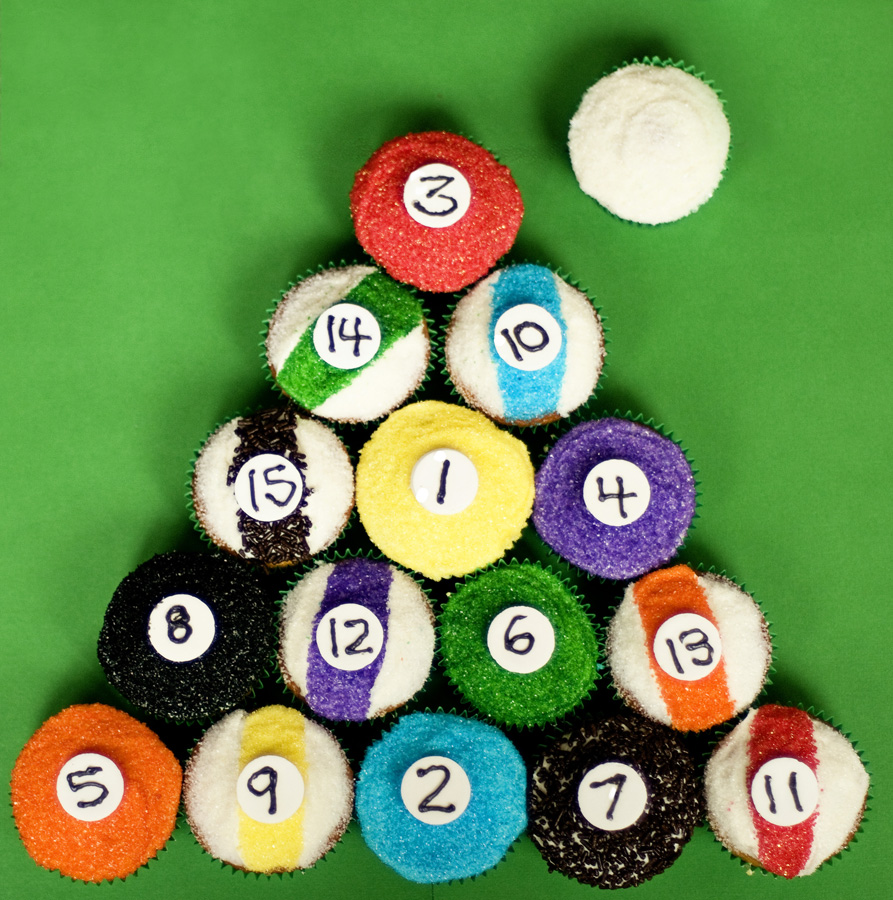 Billiard Pool Balls Cupcakes