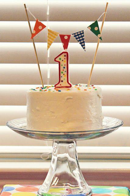 Birthday 1st Cake Banner