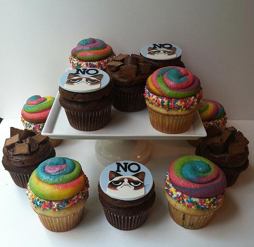 Birthday Unicorn Poop Cupcakes