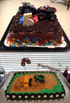 Blaze Monster Truck Cake Ideas