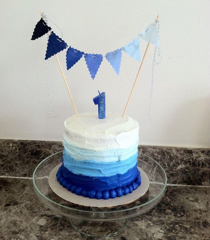 Blue Boy 1st Birthday Smash Cake