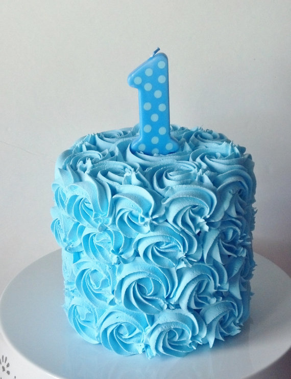 Blue Boy First Birthday Cake