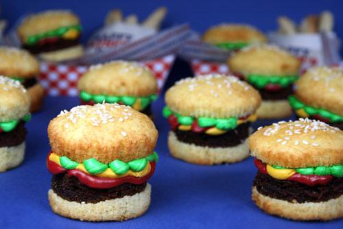 Brownie Cupcake Burgers
