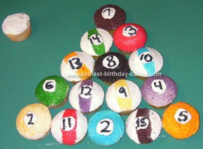 Cake Cupcake Pool Balls