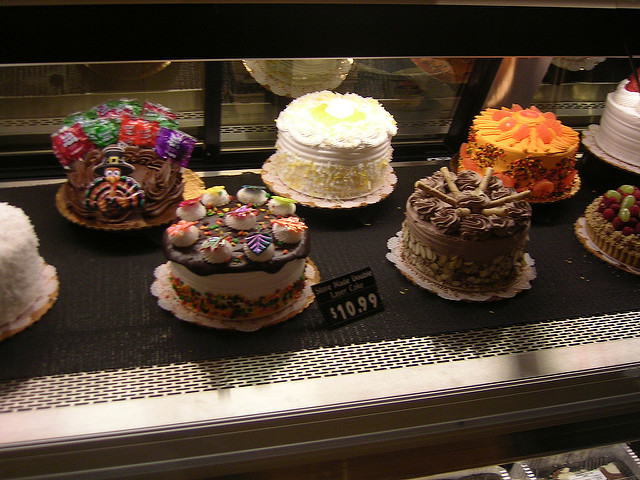 Cakes at Safeway Bakery