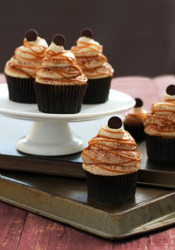 Caramel Cappuccino Cupcakes