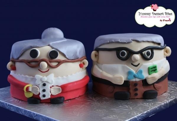 Celebrating Happy Birthday Grandpa Cake