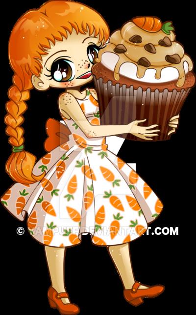 Chibi Anime Cupcake Girl