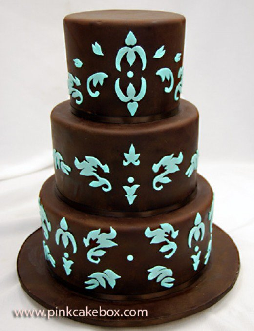 Chocolate Brown and Turquoise Wedding