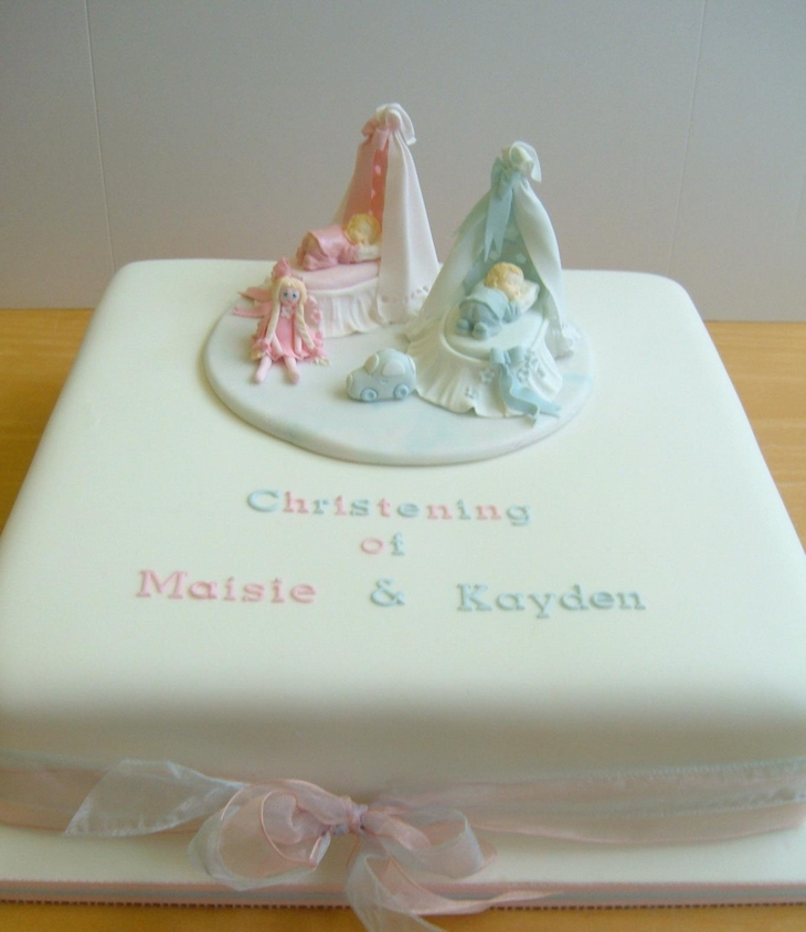 Christening Baptism Cakes Twins