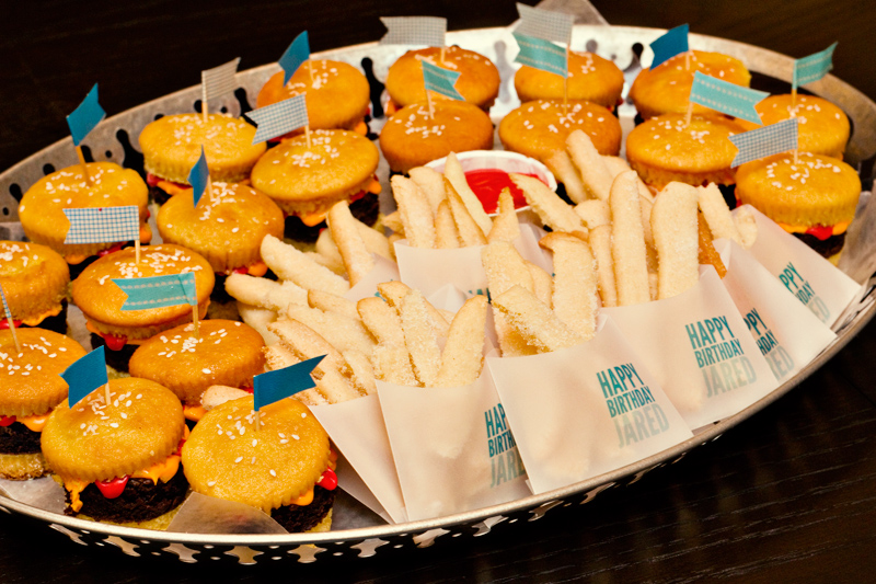 Cookie French Fries Hamburger Cupcakes
