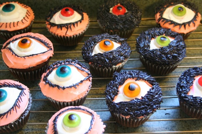 Creepy Halloween Eye Ball Cupcake