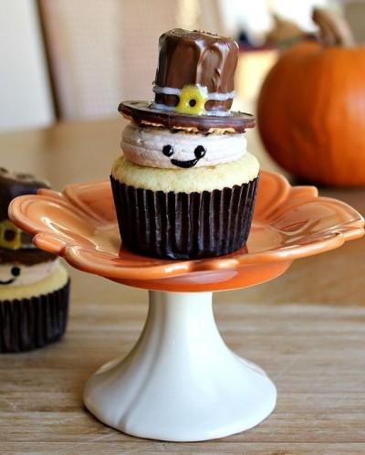 Cute Thanksgiving Cupcakes Pilgrim