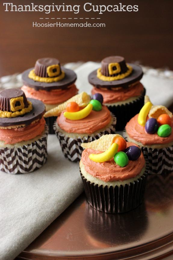 Cute Thanksgiving Pilgrim Hat Cupcakes