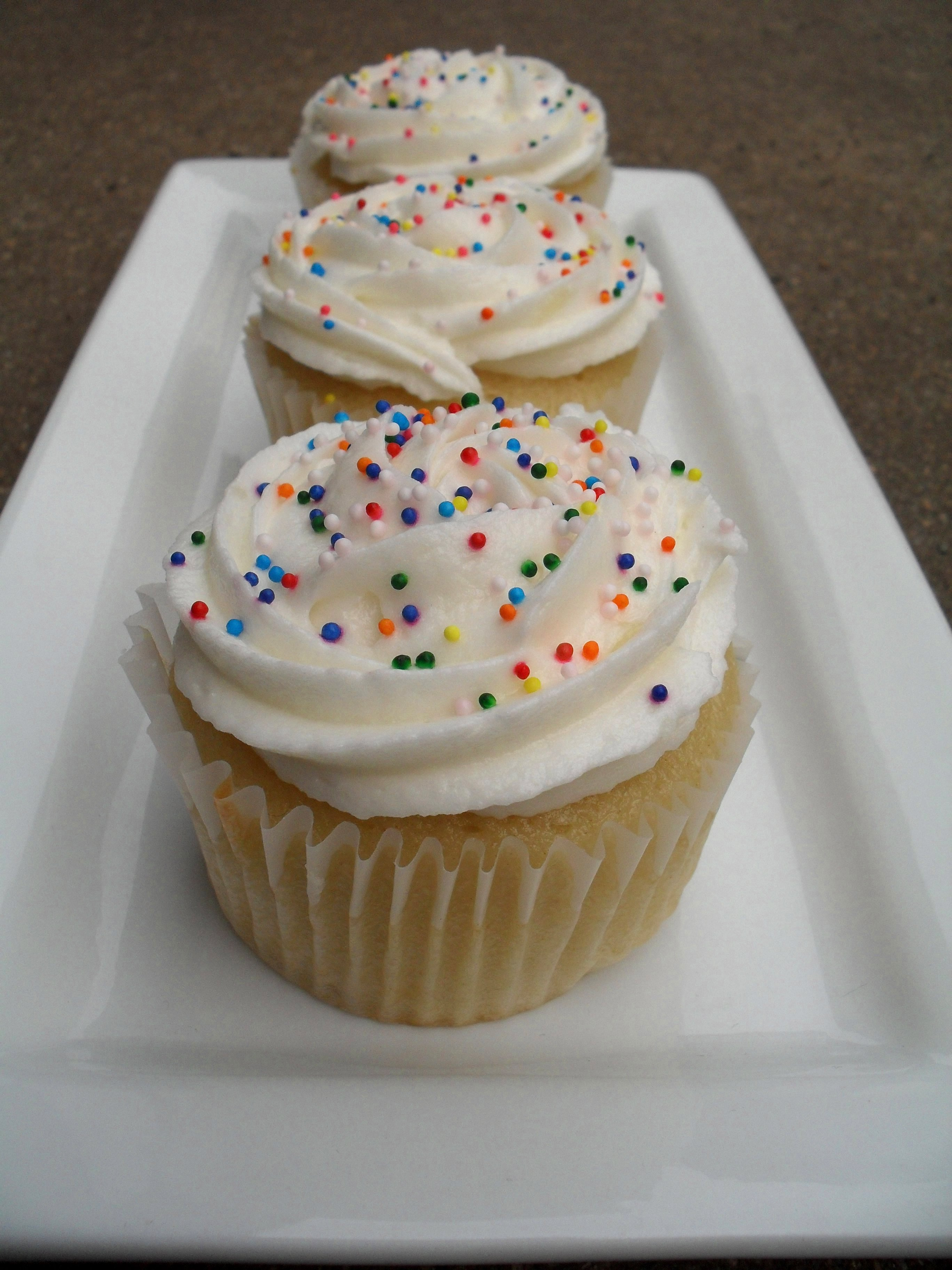 Dairy Free White Cupcakes