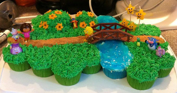 Dora Pull Apart Cupcake Cake