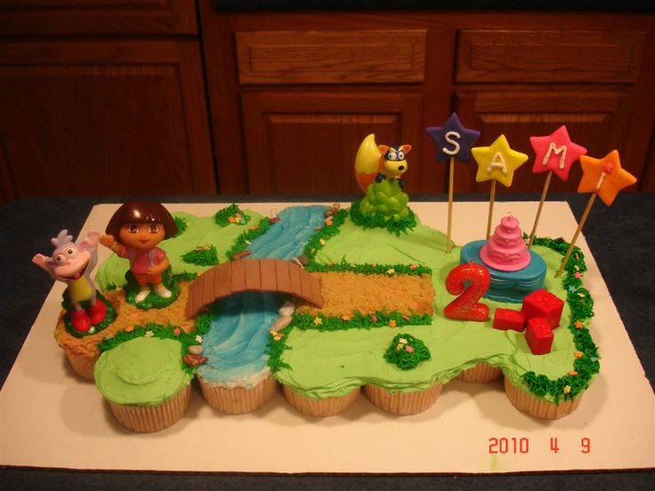 Dora the Explorer Birthday Cakes Cupcakes