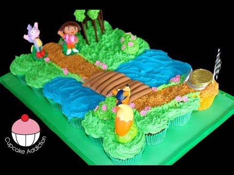 Dora the Explorer Pull Apart Cupcake Cake