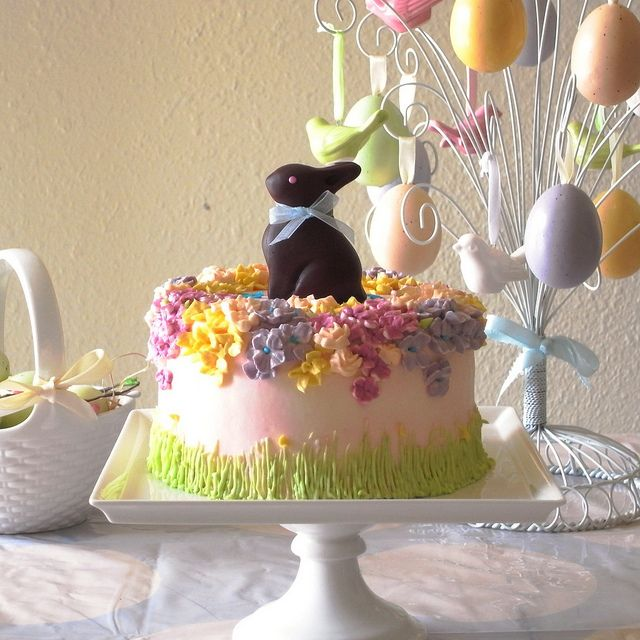 Easter Bunny Cake with Chocolate