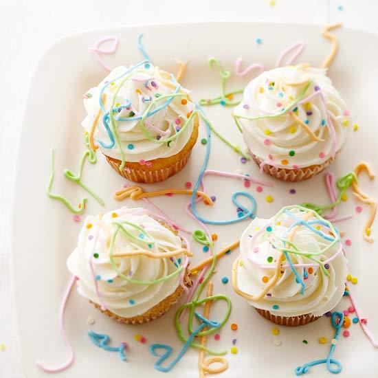 Easy Confetti Celebration Cupcakes