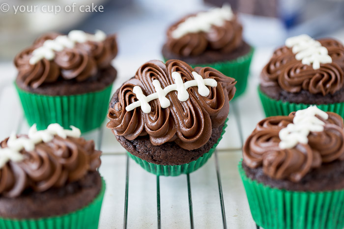 Easy Football Cupcake Cake