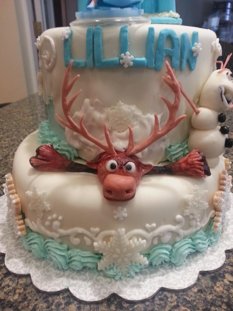Easy to Make Frozen Theme Cake