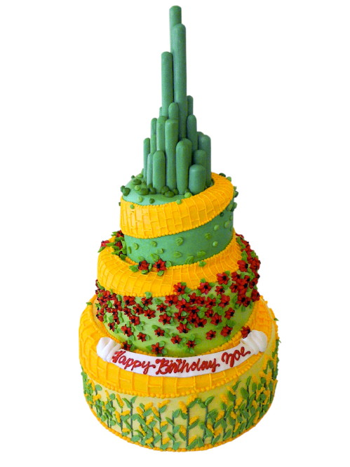 Emerald City Birthday Cake
