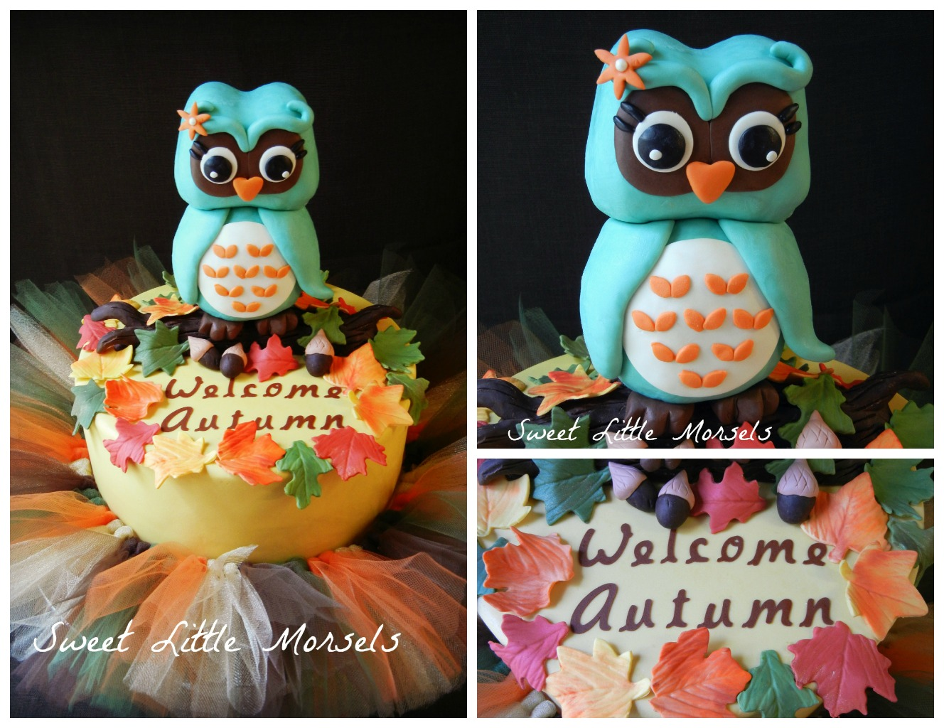 Fall Owl Baby Shower Cakes
