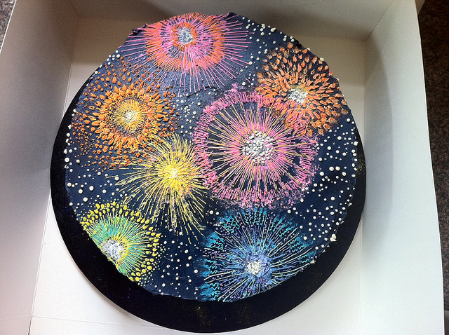8 Photos of Fireworks Cakes For Birthdays And 45