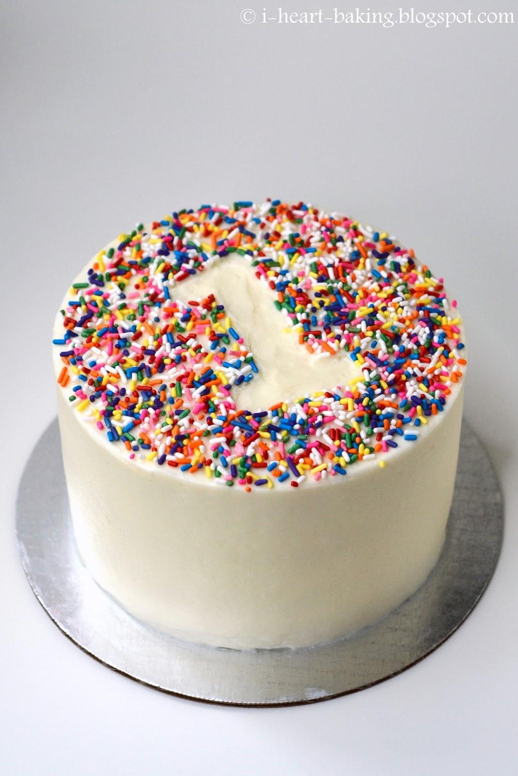 First Birthday Cake Rainbow Sprinkles