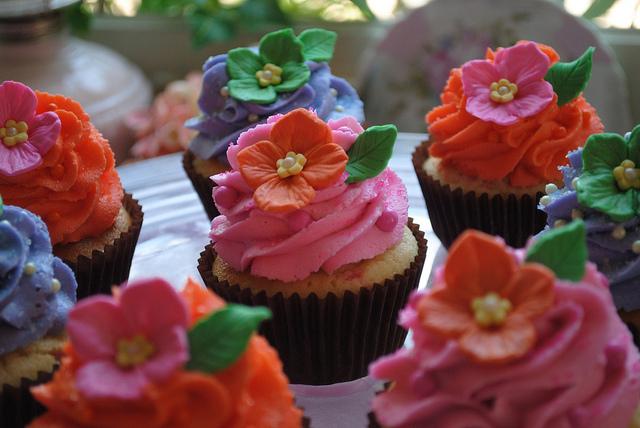 Flower Confetti Cupcakes