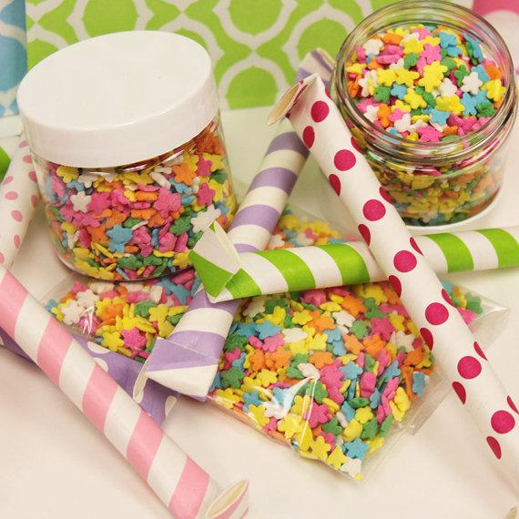 Flower Sprinkle Cupcakes