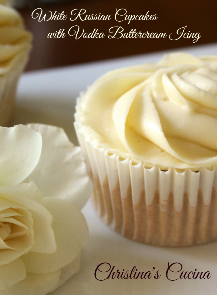 Frosting Cupcakes with Vodka Russian