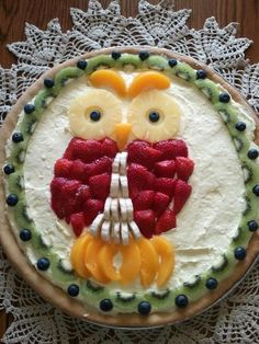 Fruit Pizza Birthday Cake