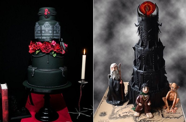 Gothic Halloween Wedding Cake