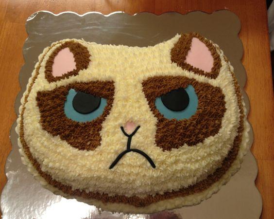 Grumpy Cat Birthday Cake