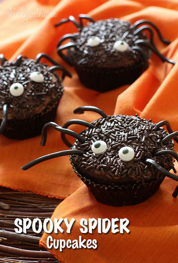 Halloween Spooky Spider Cupcakes