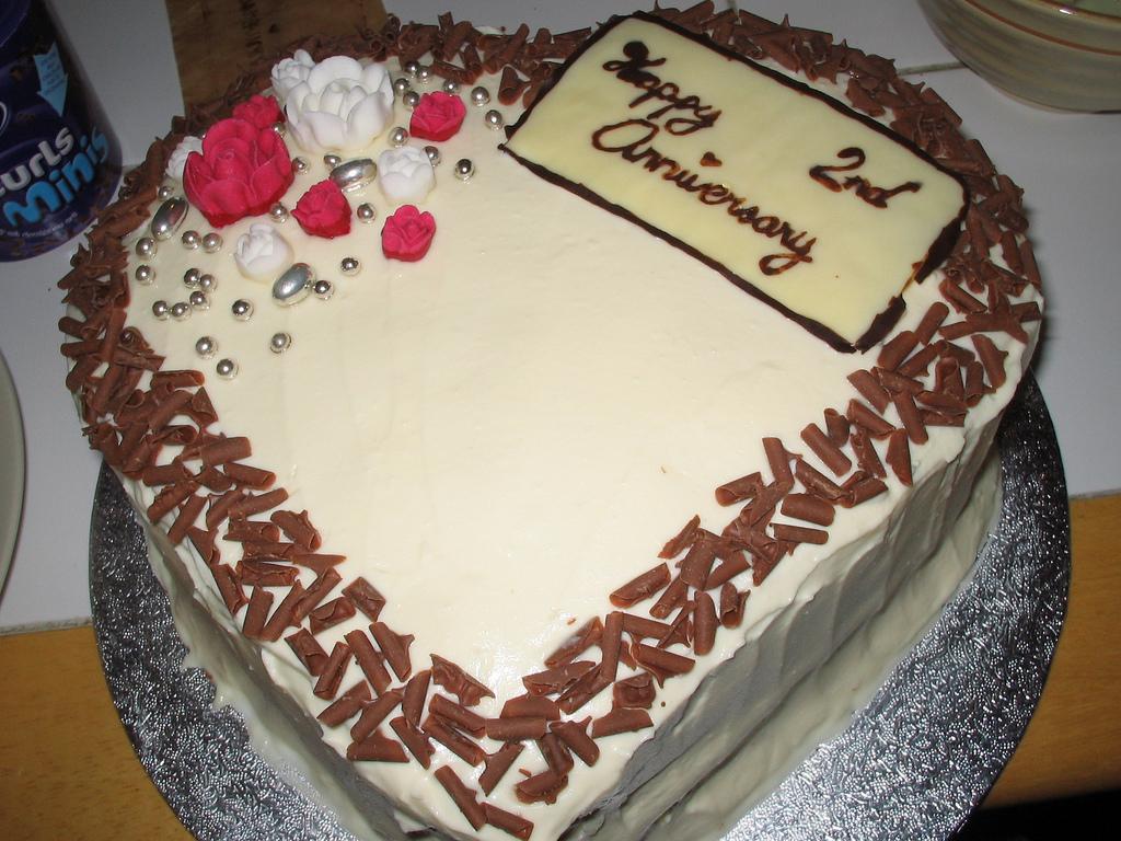 9 Photos of 2nd Wedding Anniversary Cakes