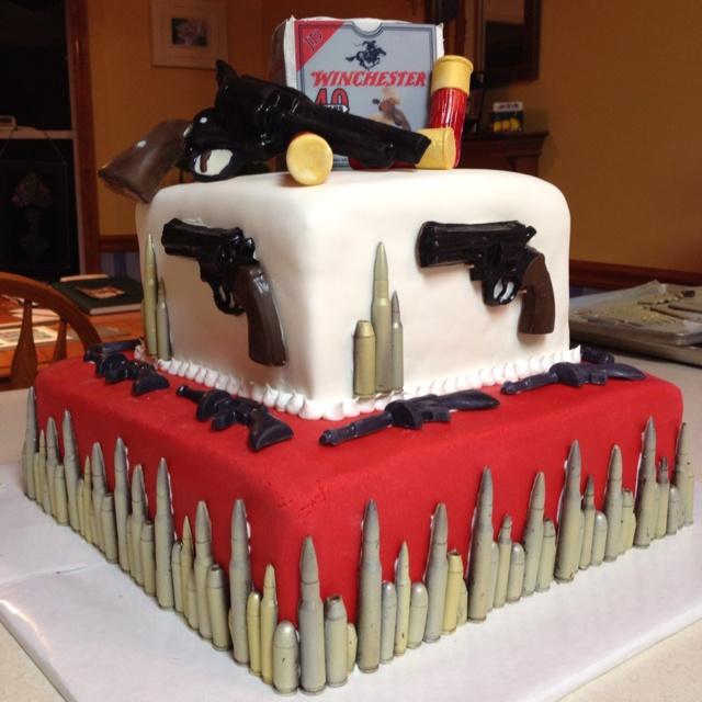 Happy Birthday Gun Cake