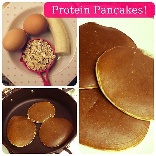6 Photos of Vanilla Whey Protein Banana Oatmeal Pancakes