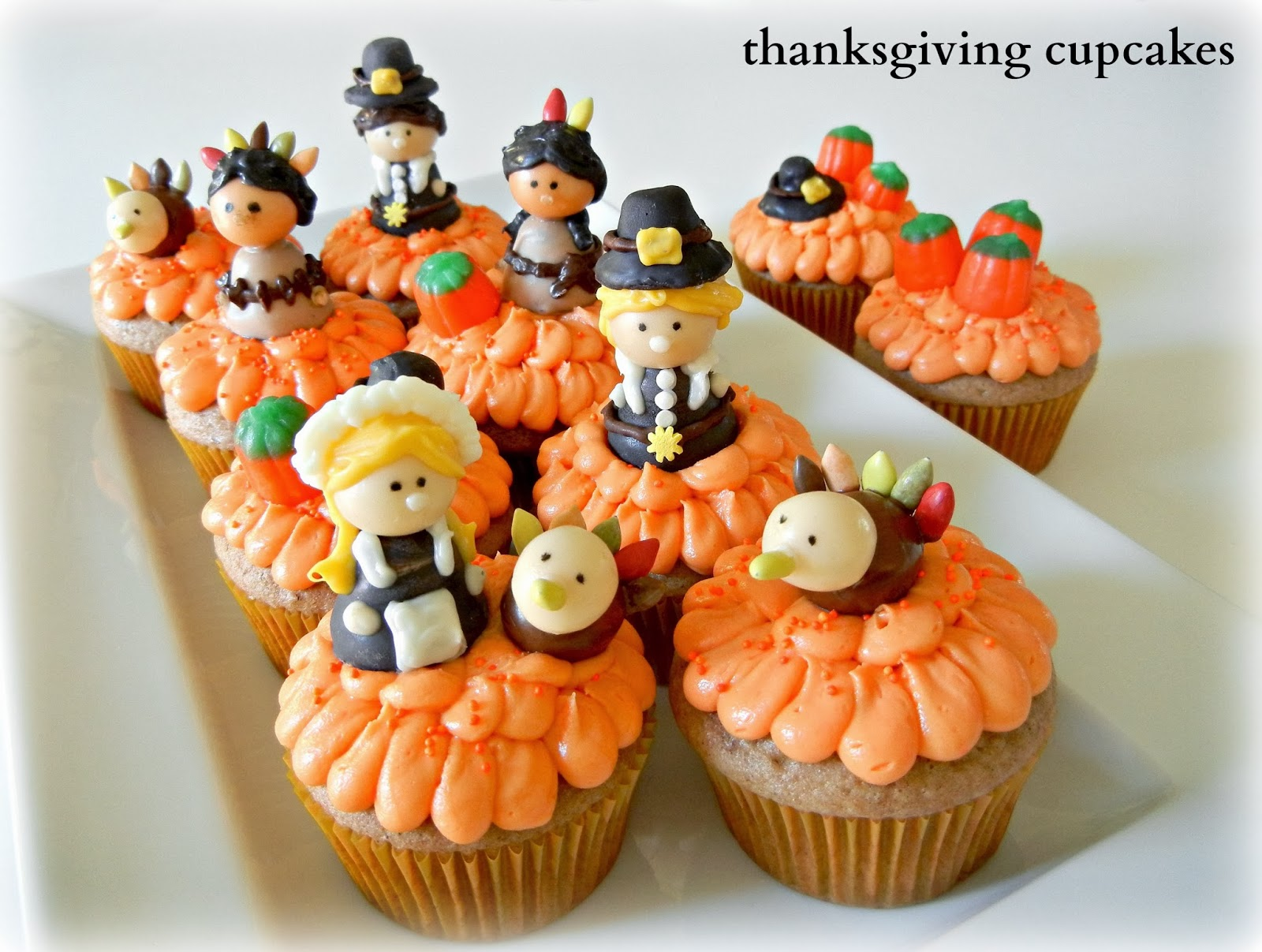 8 Photos of Thanksgiving Pilgrim Cupcakes