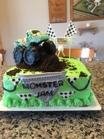 Homemade Monster Truck Jam Cake