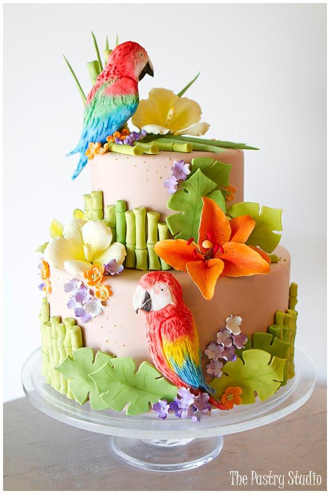 Jimmy Buffet Themed Wedding Cake
