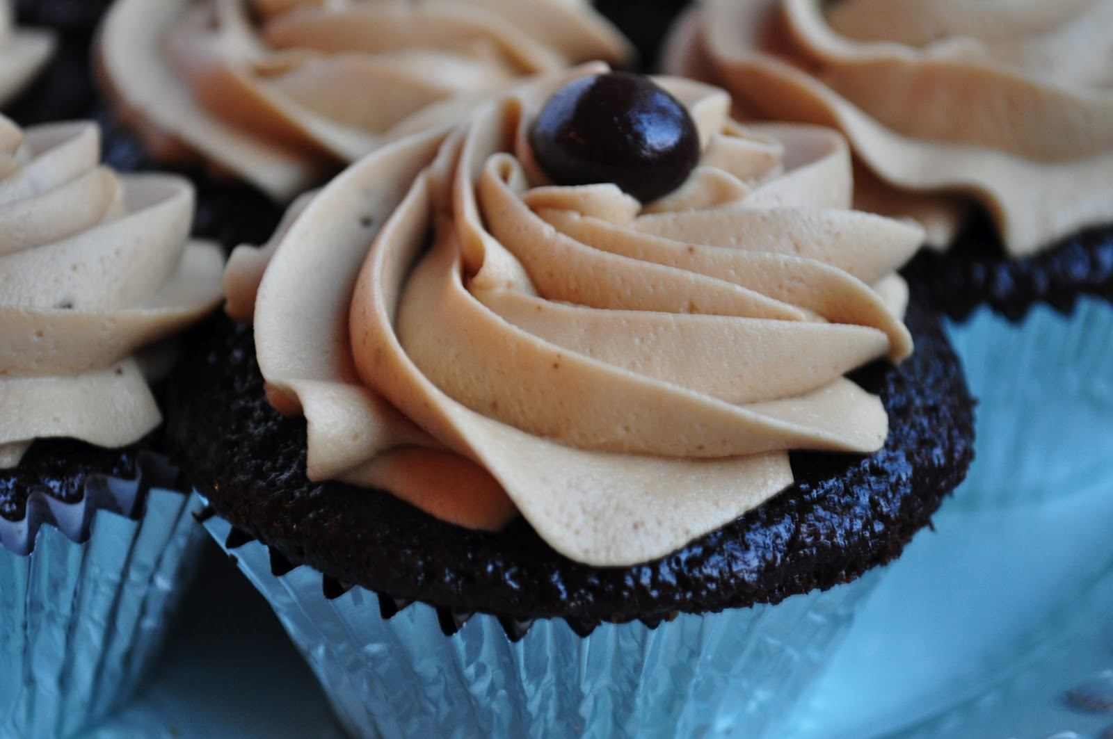 Kahlua Cupcakes with Mocha Frosting