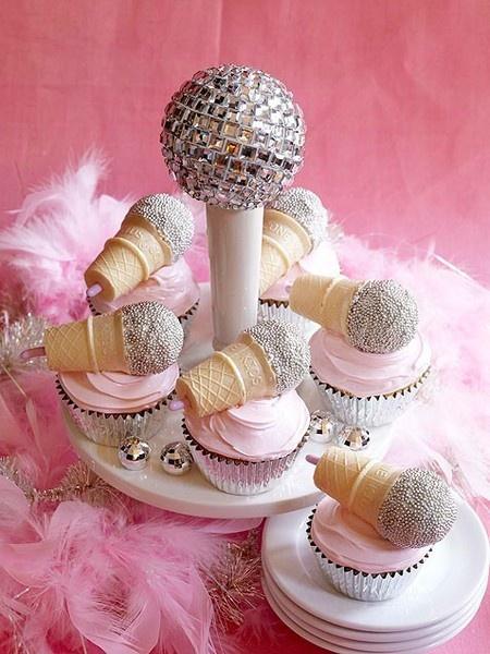Karaoke Microphone Cupcakes
